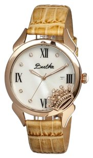 Bertha Queen Mother of Pearl Dial Cream Leather Ladies Watch BR2405