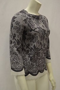 Beth Bowley Brownivory Lace Sweater