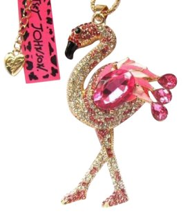 Betsey Johnson Betsey Johnson Pink Swarovski Crystal Seahorse Pendant Necklace