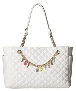 Betsey Johnson Quilted White Cross Body Bag
