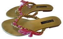 Beverly Feldman Gold with Pink Sandals