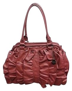 Big Buddha Ruffled Pu Shoulder Bag