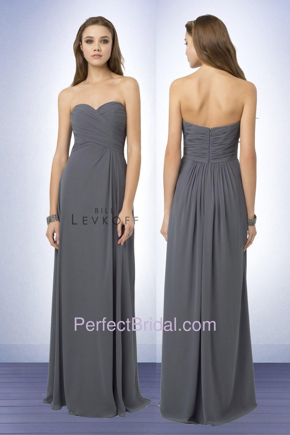 5b79c5fa8104a Bill Levkoff Gray Bridesmaid Dresses – Fashion dresses