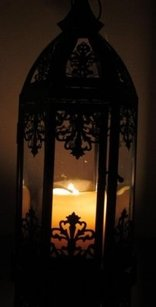 Black Moroccan Lantern Candle Holder Arabian Night