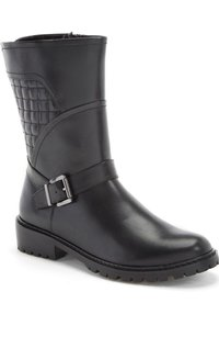 Blondo Vinita Quilted Moto Black Boots