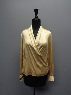 Bloomingdale's Bloomingdales Long Top Gold