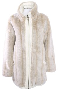BLUE STUDIO Faux Fur Vintage Fur Coat