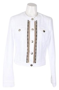 Blumarine Whiteblackgold White/Black/Gold Jacket