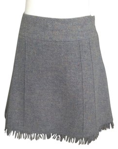 Blumarine Mini Skirt Blue Tweed