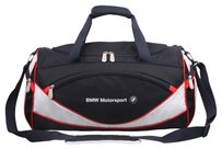 BMW Motorsports Sporty Travel Gym Polyester Blue White Travel Bag