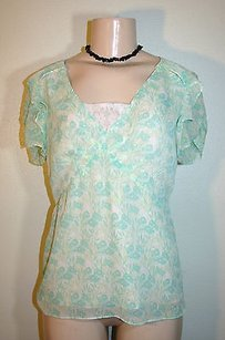 Bob Mackie Light Top Green