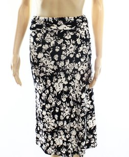 Bobeau A-line Color-black Skirt