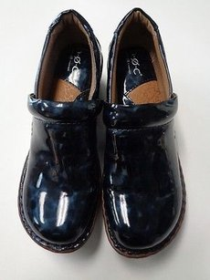 B.O.C. Boc Slip On Clogs Synthetic B3158 Dark Blue And Brown Flats