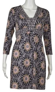 Boden Printed Above Knee 34 Sleeve Casual Sheath Dress