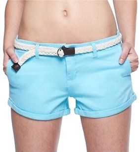 Body Glove Suede Belted Mini/Short Shorts Blue