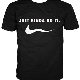 Body Rage Nike Just Do It T Shirt Black