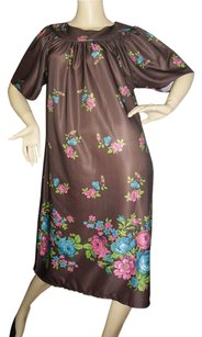 brown floral Maxi Dress by Other