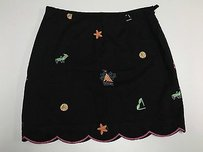 Boston Proper Proper Summer Print Side Zip Lined Mini Sma8579 Mini Skirt Black