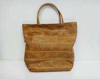 Bottega Veneta Butterfly Embossed Tote in Tan