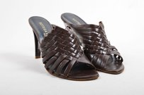 Bottega Veneta Vintage Dark Brown Mules