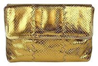 Bottega Veneta Python Gold Clutch
