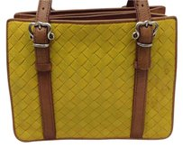 Bottega Veneta Intrecciato Leather Yellow Tote in mustard