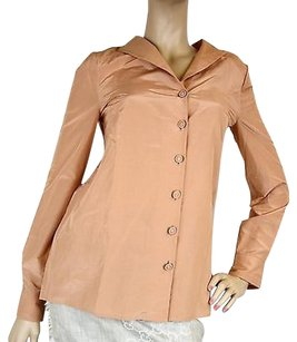 Bottega Veneta Womens Long Sleeve Top Peach