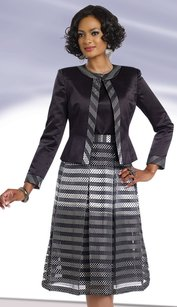 Boutique 9 3pc Silk Look With Novelty Suit
