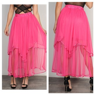 Other Maxi Skirt black, pink, blue