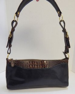 Brahmin Tuscan Brown Croc Shoulder Bag