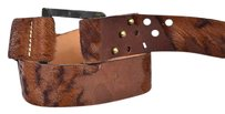 Brave Soul Brave Womens Brown Width Belt Textured Distressed Leather