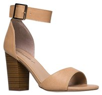 Breckelle's Ankle-strap Breckelles Beige Boots