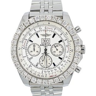 Breitling Breitling A44364 6.75 Speed 5ct Diamond Bezel Silver Storm Dial Mens Watch.