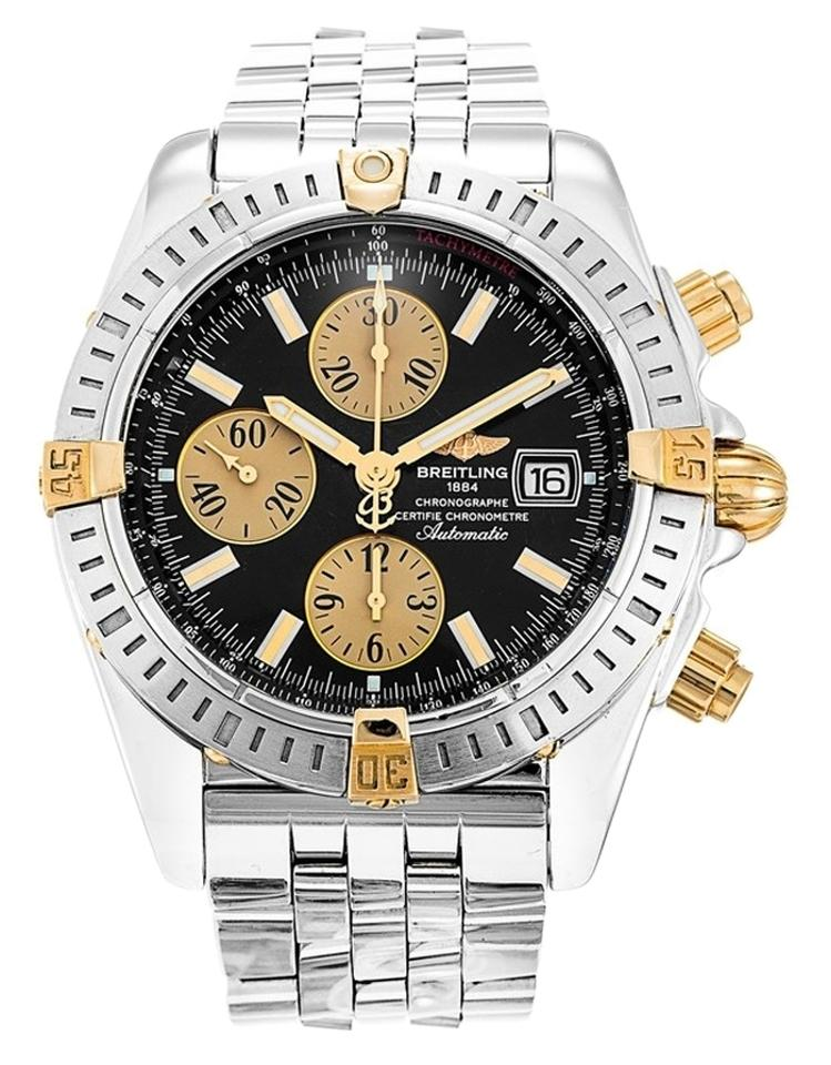 breitling breitling chronomat evolution b13356 steel and gold breitling breitling chronomat evolution b13356 steel and gold men s watch
