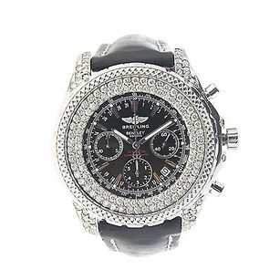 Breitling Mens Breitling For Bentley Motors With Diamonds - Leather Band - A25362
