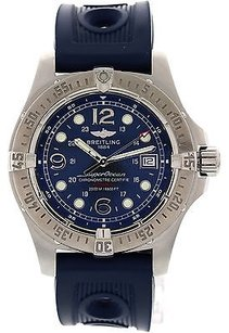 Breitling Mens Breitling Superocean Ss A17390 Rubber Strap