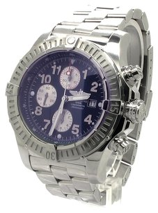 Breitling Super Avenger II Blue Dial Chronograph Stainless Steel Men's Watch