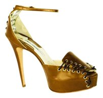 Brian Atwood Christian Louboutin Brown Sandals