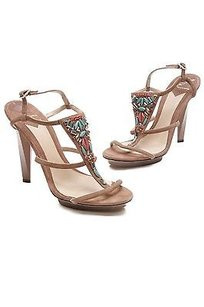 Brian Atwood Brown Suede Brown, multicolor Sandals