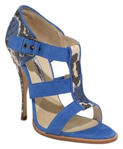 Brian Atwood Sandal Open Toe Strappy Blue Sandals