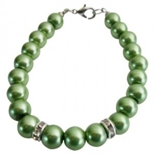 Bridal Party Low Prices Jewelry Green Color Pearls Wedding Bracelet