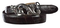 Brighton Brighton Womens Brown Width Belt Animal Print Leather Casual