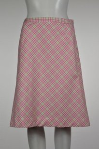 Brooks Brothers Womens Pink Skirt Pink, Green, White
