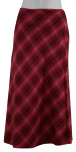 Brooks Brothers Womens Plaid Linen Skirt Red