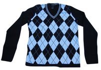 Brooks Brothers Argyle Preppy Cashmere Sweater