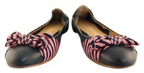 Brooks Brothers Womens Navy Multi-Color Flats