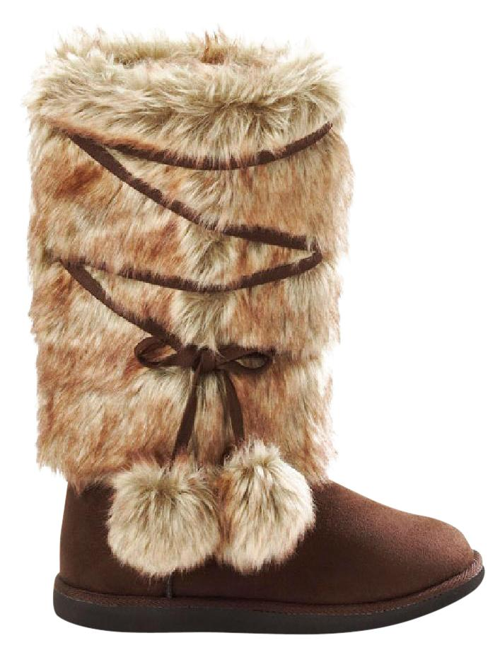 1717aaa8bc29 Brown Brown Brown Fur Boots Booties Size US 8 Regular (M