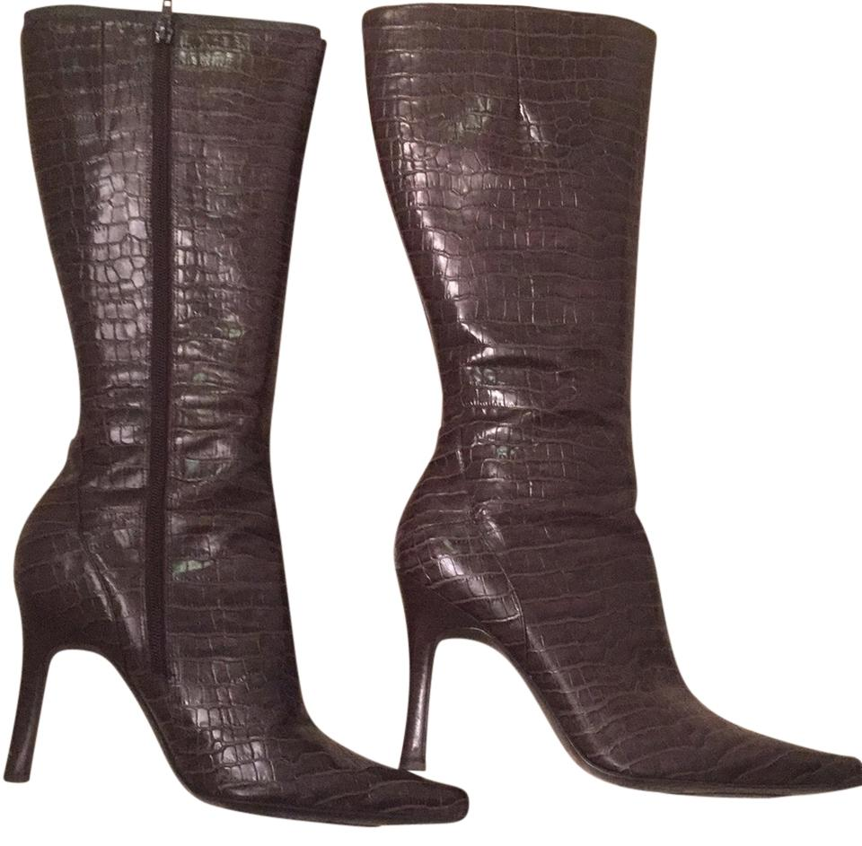 Brown snake ninewest boot