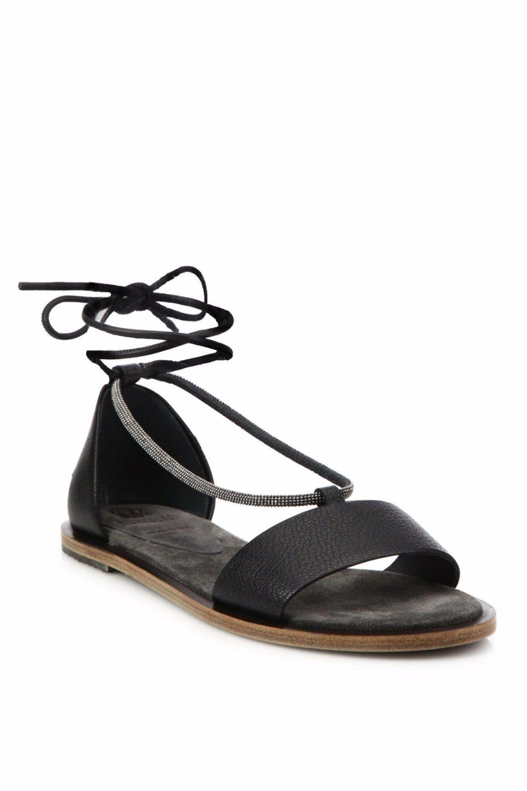 Brunello Cucinelli Monili-Trimmed Slingback Wedges free shipping best sale outlet find great cheap sale amazing price Inexpensive sale online hFAiO8E69b