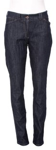 Brunello Cucinelli Blue Midrise Tapered Skinny Jeans